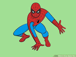 drawn spider man cartoon pencil color drawn spider man