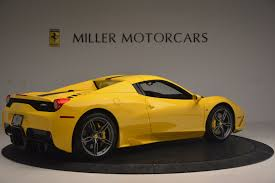 ferrari yellow 458 2015 ferrari 458 speciale aperta stock 4403 for sale near