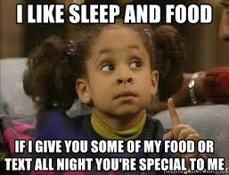 I Like Food And Sleep Meme - i like sleep and food if i give you some of my food or text all
