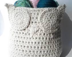Crochet Home Decor Patterns Free Crochet Owl Pattern Etsy