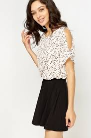 shoulder cut out blouse cut out frill sleeve blouse just 5