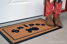 creative personalized exterior door mats diy personalized front