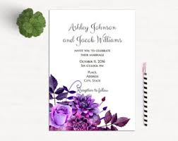 lavender wedding invitations lavender invitations etsy