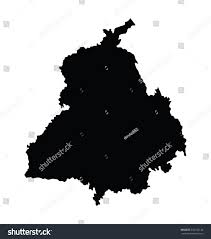 Punjab India Map by Punjab India Vector Map Isolated On Stock Vector 242156140