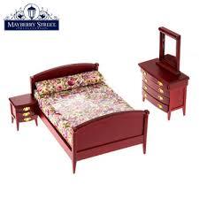 miniature mahogany bedroom set with floral bedding hobby lobby
