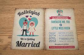 themed invitations foxes themed retro wedding invitation by magik moments
