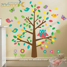 Stickers Chambre Bebe Arbre by Amovible Stickers Muraux Animaux Owlet Arbre Verre Decor Chambre