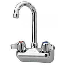 wall mounted faucets kitchen krowne silver series 4 center wall mount faucet 3 1 2 gooseneck
