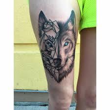 25 amazing geometric dotwork wolf tattoos wolf tattoos wolf