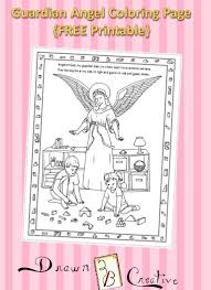 guardian angel coloring page drawn2bcreative