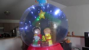 peanuts airblown inflatables gemmy peanuts christmas pageant sparkling globe
