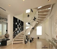 Glass Stairs Design False Ceiling Design For Square Living Room Glass Stair Railings
