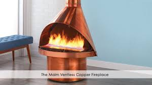 the malm ventless copper fireplace youtube
