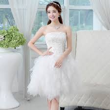 wedding dress pendek formal dress top wedding dress bridal gowns white