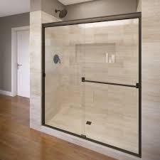 Wood Shower Door by Basco Shower Doors Showers The Home Depot