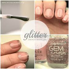 how to do an easy glitter french manicure