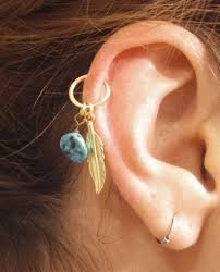 hoop cartilage piercing cartilage piercing hoop earrings beautify themselves with earrings