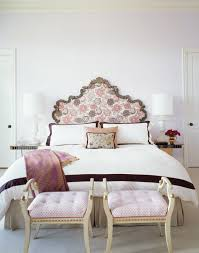 upholstered headboard with floral print simplified bee