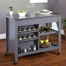 kitchen island rolling stainless steel movable kitchen island laughingredhead me