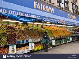 fairway market on the west side of manhattan stock photo