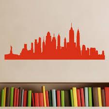 new york cityscape skyline wall sticker world of wall stickers