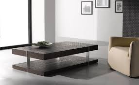 modern end tables for living room wenge zebrano finish modern coffee table w metal accents