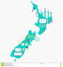 Map New Zealand Map Of New Zealand Machine Stock Vector Image 71992528