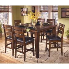 counter height dining room table signature design by ashley larchmont counter height dining table