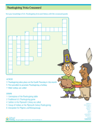 thanksgiving crossword puzzle schoolfamily