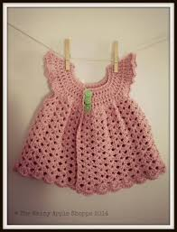 baby clothes pink dress baby dress crocheted dress