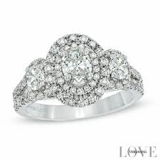 zales wedding rings for vera wang collection 1 1 2 ct t w oval three