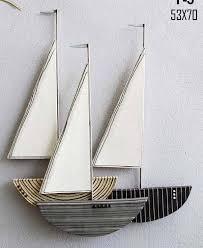 wood sailboat wall cozy metal sailing boats simple diy design