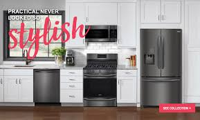 Complete Kitchen Cabinet Packages Frigidaire Gallery Black Stainless Steel Appliances Connection