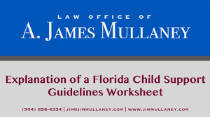 an explanation of a florida child support guidelines worksheet