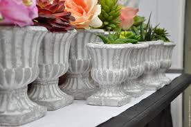 buy set concrete mini vases for flowers provence and home decor on