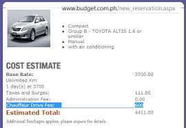 Car Rental Estimate by Car Hire In Baguio Luzon Philippines Information