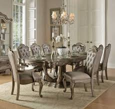 florentina old world silver gold wood dining table kitchen
