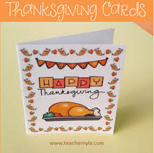 nyla s crafty teaching thanksgiving cards for teachers and students