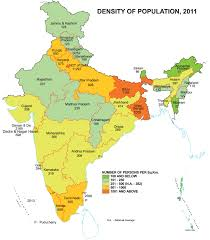 Population Density Map Density Map Of Population In India 2011 State Wise Census