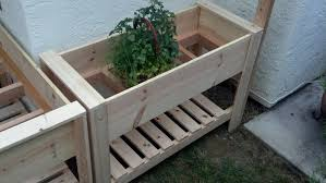 Standing Planter Box Plans by Brown Wooden Raised Planter Box Plans In A Simple Design Living