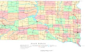 map south dakota south dakota printable map