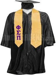 cheap graduation stoles phi sigma pi satin graduation stole with letters gold