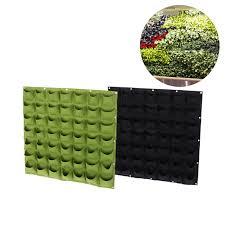 49 pockets flower pots planter wall hanging vertical vegetable