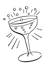 black and white champagne bottle clipart champagne cocktails clipart 28