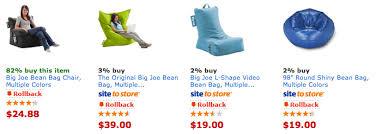 Walmart Bean Bag Chairs Walmart Big Joe Bean Bag Chair 24 88
