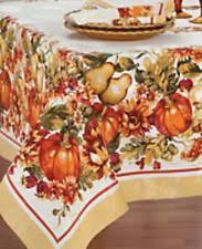 autumn harvest tablecloth ebay