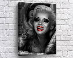 marilyn monroe tattoo etsy