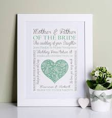 wedding gift from parents of the groom wedding print by designs