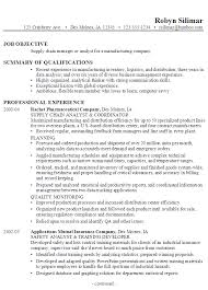 Job Objective In Resume by Resume For A Supply Chain Manager Or Analyst Susan Ireland Resumes