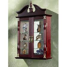 Curio Cabinets With Glass Doors Curio Cabinet Amusing Red Wooden Color Kitchen Corner Curio